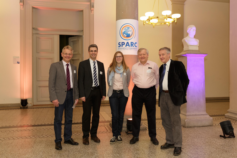 Future SPARC Office staff at Oberpfaffenhofen, DLR institute members Prof. Dr. Markus Rapp and Prof. Dr. Martin Dameris and SPARC Co-chair Prof. Dr. Neil Harris from Cranfield University, UK.