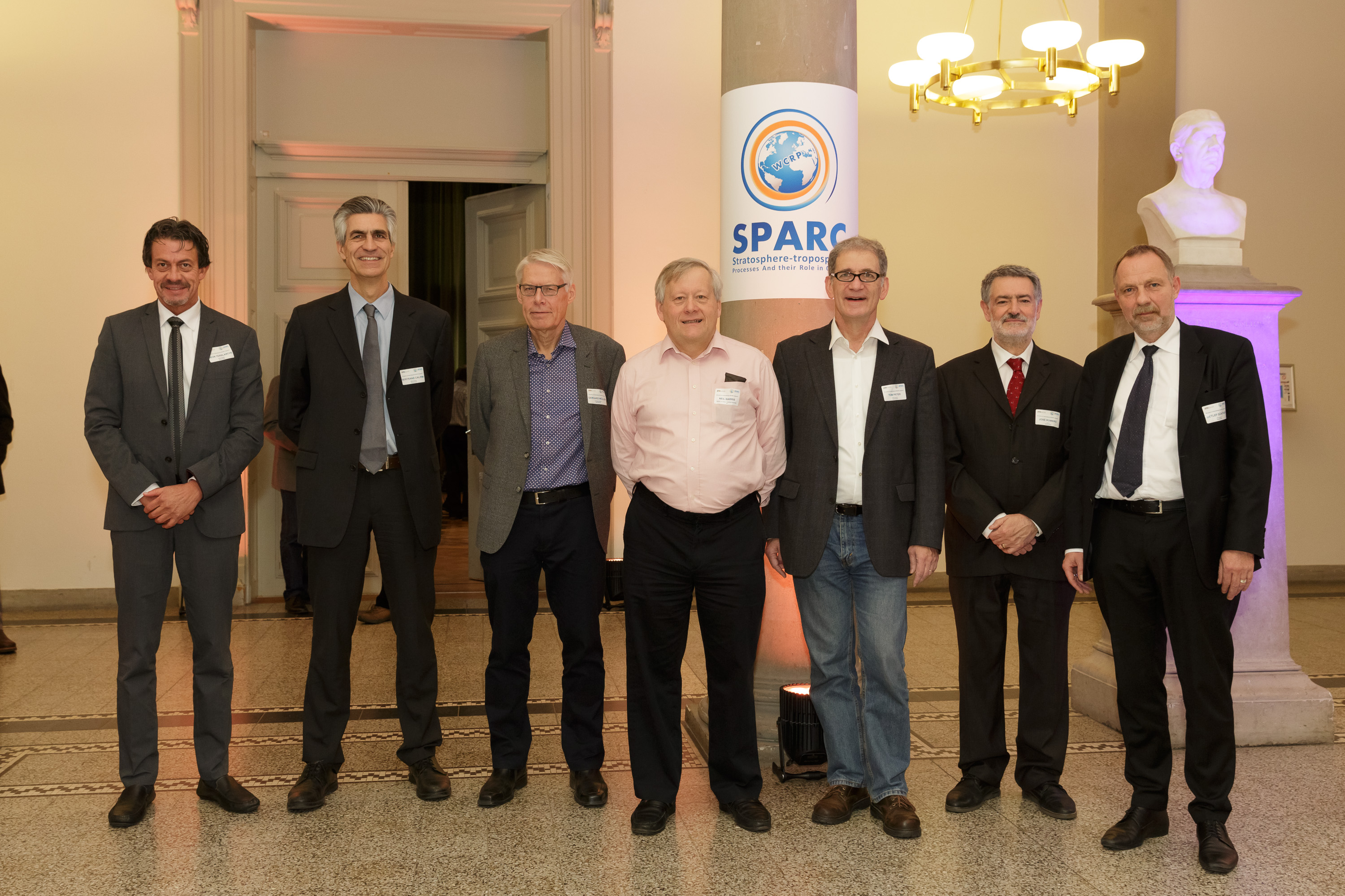 Sponsors and supporters of the SPARC Office in Zurich: Dr. Deon Terblanche, WMO; Prof. Dr. Bertrand Calpini, Meteoswiss; Gerhard Müller, formerly Meteoswiss; Prof. Dr. Neil Harris, Cranfield University; Prof. Dr. Thomas Peter, ETH Zurich; Dr. José Romero, FOEN; Prof. Dr. Detlef Günther, ETH Zurich.