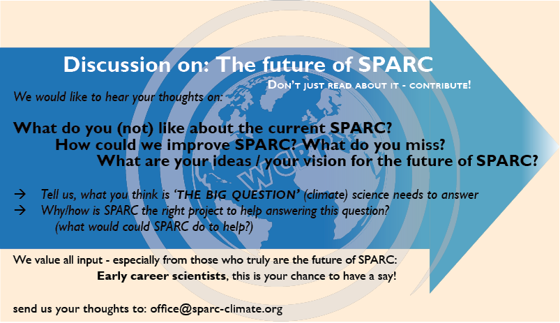 Advertisement for the discussion on the future of SPARC
