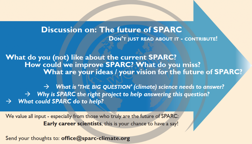 Advertisement: Participate in the discussion on the future of SPARC!